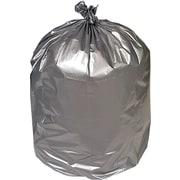 Brighton Professional Premium Linear Super Heavy Trash Bags, Silver, 40-45 Gallon, 50 Bags/Box (18189)