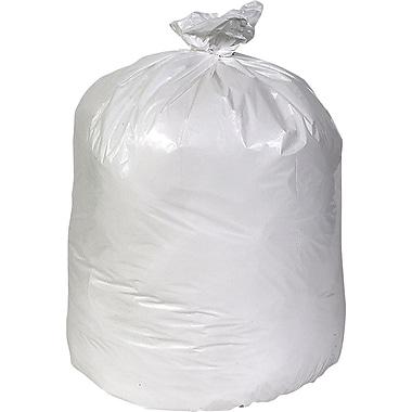 Brighton Professional™ Linear Low-Density Trash Bags, White, 40-45 Gallon, 100 Bags/Box
