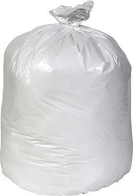 Brighton Professional, Trash Bags, 40-45 Gallon, 40x46, Low Density, 0.74 Mil, White, 100 CT