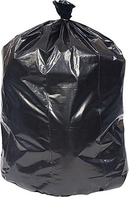 Brighton Professional, Trash Bags, 40-45 Gallon, 40x46, Low Density, 0.65 Mil, Black, 125 CT