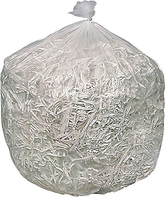 Brighton Professional, Trash Bags, 40-50 Gallon, 40x48, High Density, 16 Mic, Natural, 250 CT, 10 rolls of 25 bags per roll