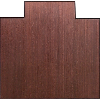 Anji Mountain Tri-Fold 51''x47'' Bamboo Chair Mat for Hard Floor, Rectangular w/Lip, Dark Cherry (AMB0500-1003)