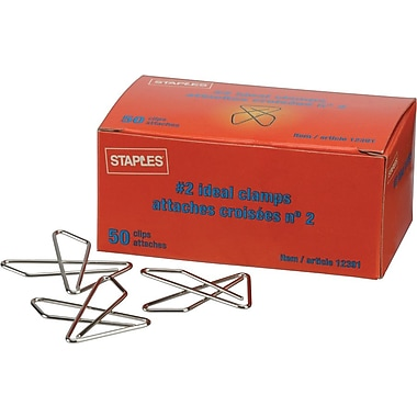Staples® #2 Ideal Paper Clamps
