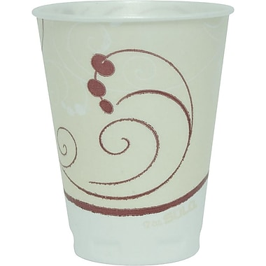 Solo® Symphony® Styrofoam Hot & Cold Cups, 12 Oz., Design, 300/Ct