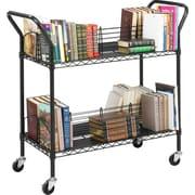 Safco Wire Book Cart, Black (5333BL)