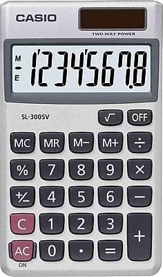 Casio® Handheld Calculators, SL-300SV 8-Digit