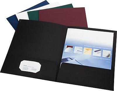 Esselte® Linen 2-Pocket Portfolios, Navy