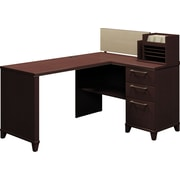 Bush® - Bureau en coin de la collection Enterprise, fini cerisier Mocha