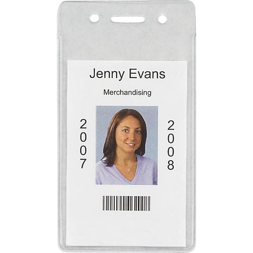 staples 37868 cc id badge holders vertical 50 pack staples
