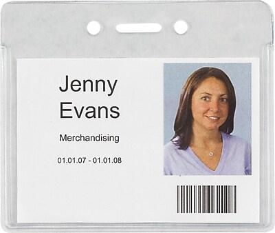 Staples 37867 Heavy-Duty ID Badge Holders, Horizontal, 3 7/8