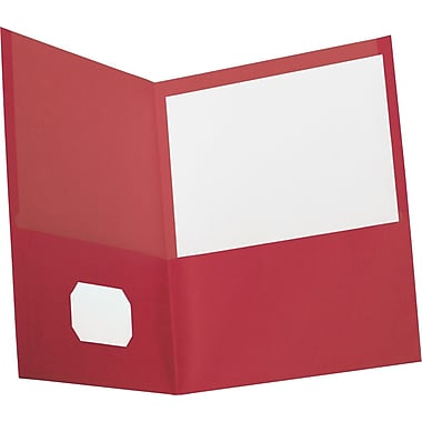 Oxford® Earth in Mind Recycled Portfolio, Red, 10/Pack