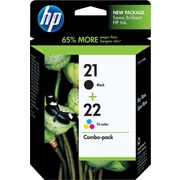 HP 21/22 Black and Tricolor Ink Cartridges (C9509BN), Combo 2/Pack