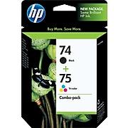 HP 74/75 Black/Tri-Color Standard Yield Ink Cartridge, 2/Pack (CC659FN#140)