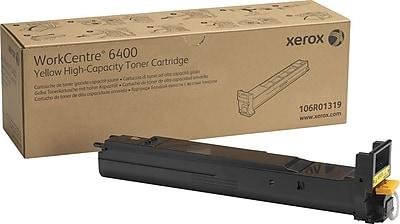 Xerox WorkCentre 6400 Yellow Toner Cartridge (106R01319), High Yield