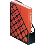 Staples® Black Plastic Desk Collection, (Recycled) Magazine File