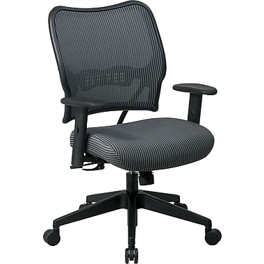 Office Star SPACE Mesh Managers Office Chair, Adjustable Arms, Charcoal (13-V44N1WA)