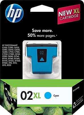 HP 02XL Cyan Ink Cartridge (C8730WN), High Yield