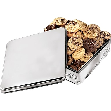 Mrs. Fields Original Cookies, Silver Tin, 28 Nibblers