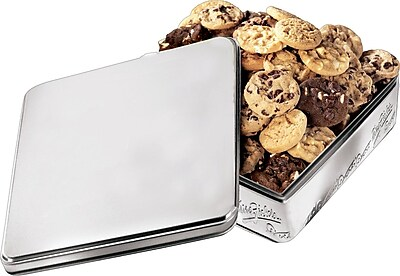 Mrs. Fields Original Cookies Silver Tin, 60 Nibblers