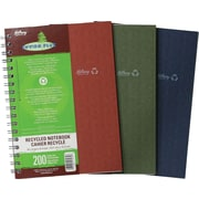 "Hilroy Enviro-Plus Recycled Notebook, 9-1/2"" x 6"", Assorted, 200 Pages"