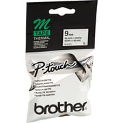 Brother P-Touch M Series Label Tape, 9mm Black on White, MK221