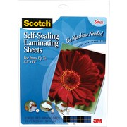 Scotch™ LS854SS-10 Self-Sealing Letter Sized Laminating Sheets, 6 mil, 10/Pack