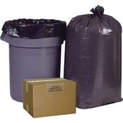 Brighton Professional, Trash Bags, 55-60 Gallon, 38x60, High Density, 22 Mic, Black, 150 CT, 6 rolls of 25 bags per roll