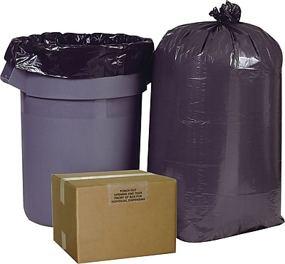 Brighton Professional, Trash Bags, 55-60 Gallon, 38x58, Low Density, 0.95 Mil, Black, 100 CT