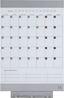 Quartet Envi Monthly Whiteboard Calendar 11 X 17 Magnetic