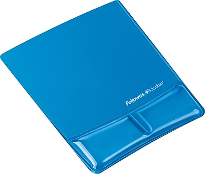 Fellowes Blue Gel Mouse Pad with Wrist Support (9182201)