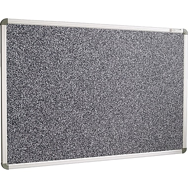 Best-Rite Euro-Trim 3'W x 2'H Recycled Rubber-Tak Bulletin Board, Black Panel/Aluminum Frame (BRT12300)