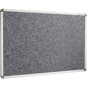 Best-Rite 4'W x 3'H Euro-Trim Recycled Rubber-Tak Bulletin Board with Black Panel/Aluminum Frame 12400