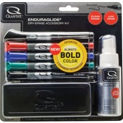 Quartet® EnduraGlide® DryErase Marker, Fine Tip, Assorted, 5/Pack