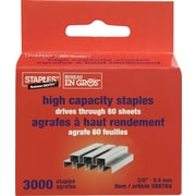"Staples® 3/8"" High-Capacity Staples, 3000/Box"