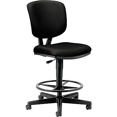 HON® Volt® 5700 Series Extended-Height Stool with Backrest, Fabric, Black, NEXT2017 NEXT2Day