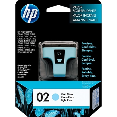 HP 02 Light Cyan Original Ink Cartridge (C8774WN)