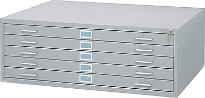 Safco® Versatile Steel Flat Files, 5-Drawers: 50x38