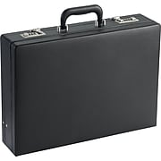 Solo New York Premium Leather-like Attache, Hard-sided with Combination Locks, Black, K85