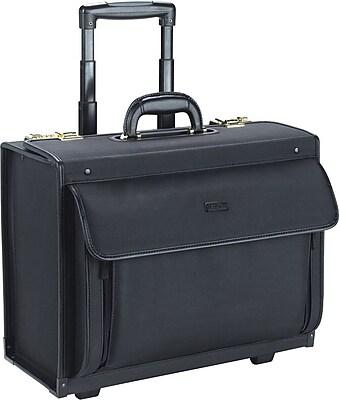 SOLO® Rolling Catalog Laptop Case, Combo Lock, Black, 15.4