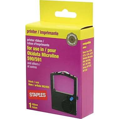 Staples® Printer Ribbon for Okidata ML590/591