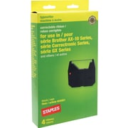 Staples® Typewriter Ribbon for Brother AX/GX Series, 4-Pack