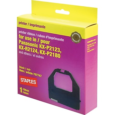 Staples® Compatible Printer Ribbon, Panasonic KX-P2123/2124, Black