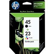 HP 45/23 Black/Tri-Color Standard Yield Ink Cartridge, 2/Pack (C8790FN#140)
