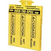 "Rubbermaid ""Over-The-Spill"" Pad Tablet, 17"" x 14"", Yellow, 25/Pack (FG425400YEL)"