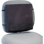 "Rubbermaid® Back Perch™ Foam Backrest With Fleece Cover, 12 1/2""(H) x 13""(W) x 2 3/4""(D), Black"