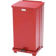 "Rubbermaid Receptacle Defenders® Biohazard Steel Step Can, Red, 12 Gal, 23""H x 12""W x 12""D"