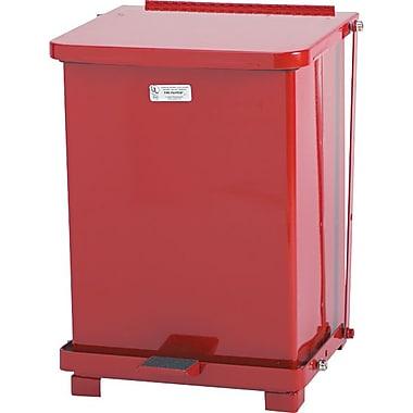 Rubbermaid Receptacle Defenders® Biohazard Steel Step Can, Red, 7 Gallons, 17