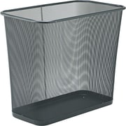 "Rubbermaid Steel Mesh Wastebasket, Rectangular, 7 1/2 Gallons, Black, 16""H x 14""W x 8.5""D"