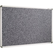 Best-Rite 8'W x 4'H Euro-Trim Recycled Rubber-Tak Black Panel/Aluminum Frame Bulletin Board 13002
