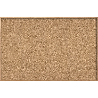 Ghent Natural Cork Bulletin Board with Wood Frame, 4'H x 12'W